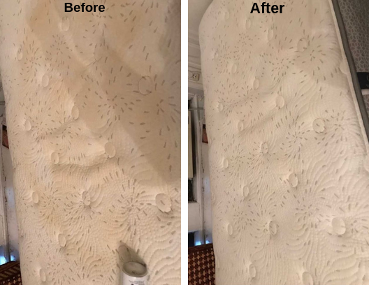 Before and After Mattress Cleaning
